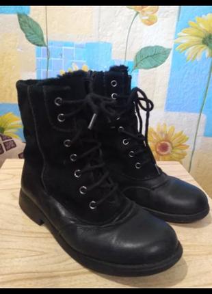 Ботиночки кожа с замшей демисезонные Clarks