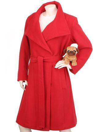 S.Oliver 65% шерсть пальто халат на запах шерстяное классическое