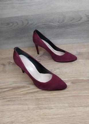 Туфли на каблуке - натуральная замша model 2217