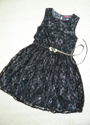 Нарядное стильное платье yd на 10-11 лет