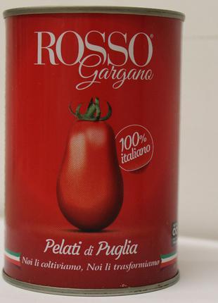 Томати цілі очищені у власному соку rosso gargano 400 г Італія