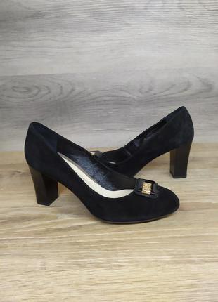 Туфли на каблуке - натуральная замша model 2211