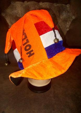 Шляпа эффектная с бубенчиками для фана голландия