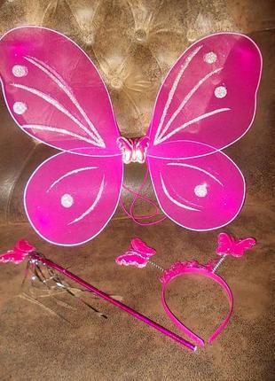Костюм маскарадный бабочка фея набор новый