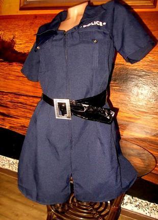 Ролевые игры маскарад платье девушка-полицейский 46 размер