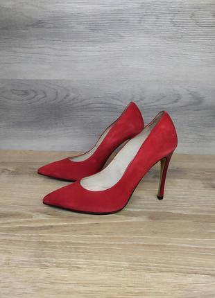 Туфли на каблуке - натуральная замша model 2202