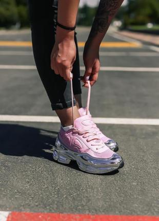 Adidas x raf simons ozweego clear pink silver metallic женские...
