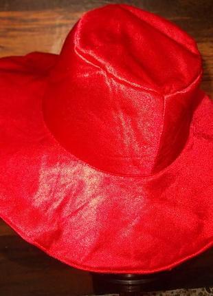 Шляпка маскарадная для красной шапочки