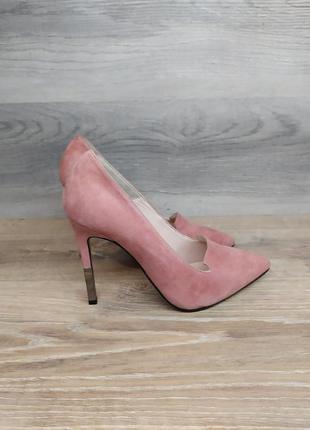 Туфли на каблуке - натуральная замша model 2212
