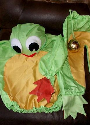 Маскарадный костюм лягушонка годика на 2-3 - самодельный
