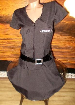 Платье полицейской для маскарада или ролевых игр 40 размер