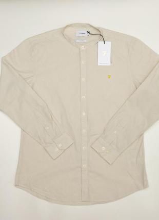 Новая рубашка farah с воротником стойка \ стойкий воротник