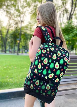 Рюкзак avocado женский | мужской городской для ноутбука авокад...