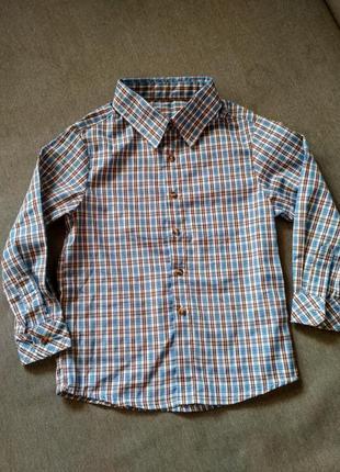 Рубашка swiss cross сша, синяя в клетку, тонкая – размер 5, ма...