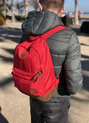 Мужской рюкзак pull&bear красного цвета /чоловічий рюкзак/сумк...