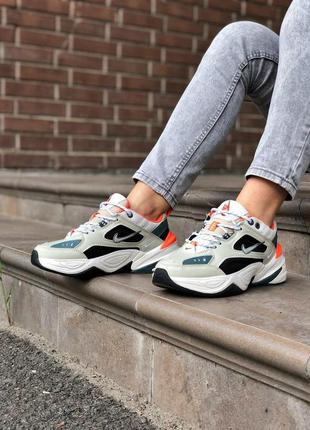 Nike m2k tekno camo мужские кроссовки найк белые 41-45