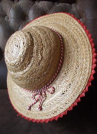 Шляпа из натуральной соломки детская