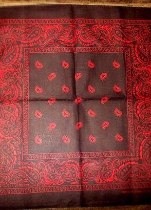 Платок-бандана - классика 54х54 см