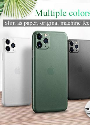 Ультратонкий матовый чехол iPhone 6 6s 7 8 Plus XR X XS Max 11...