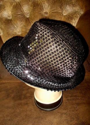 Блестящая маскарадная шляпа в стиле майкла джексона