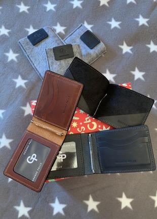 Зажим-портмоне из натуральной итальянской кожи бренда GP