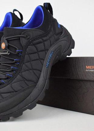 Merrell iceberg moc мужские кроссовки мерел черные с синим 41-45