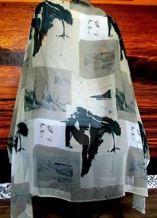 Палантин шарф платок150х87см бернд бергер германия