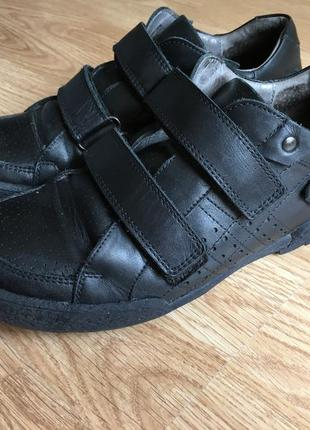 Чёрные кожаные туфли на мальчика