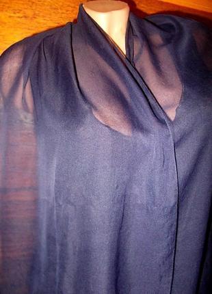 Распродажа! шарф темно-синий 160х38см