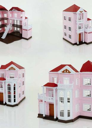 Игрушечный трехэтажный домик для флоксовых животных Happy Family