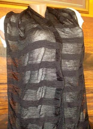 Шарф 175х30см черный цвет