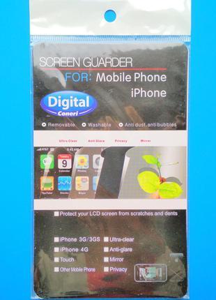 Качественная защитная пленка экрана дисплея iPhone 4 Новая
