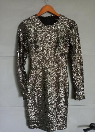 Шикарное платье. платье в пайетках. блестящее платье
