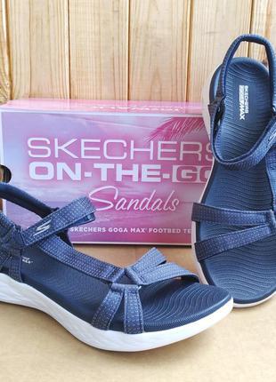 Шикарные удобные мягкие стильные сандалии skechers goga max