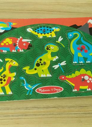 Деревяний пазл Melissa & Doug Динозаври