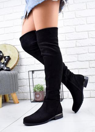 ❤ женские черные осенние демисезонные ботфорты чулки сапоги ❤