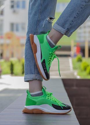 Кроссовки Versace Cross Chainer Green/Black
