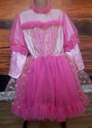 Маскарадное платье на 7-9 лет на полненькую девочку