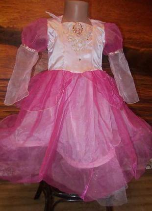 Карнавальное платье барби на 5-7 лет
