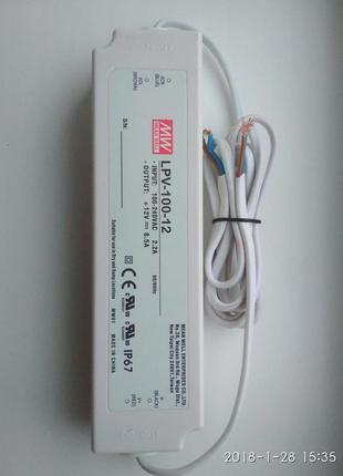 Блоки питания герметичные Mean Well LPV-100-12 (12В 8,5A 100Вт)