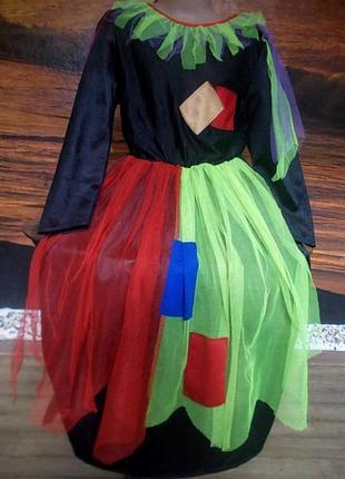 Маскарадное платье волшебницы 32-34 р  + колпак в подарок