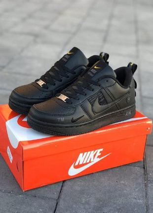 Кроссовки nike air force черные полностью