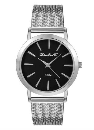 Часы наручные женские серебристые на силиконовом ремешке годинник
