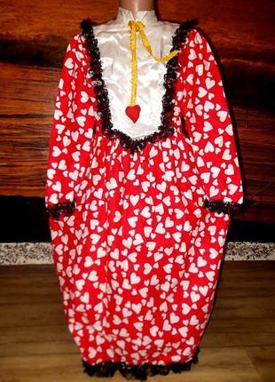 Платье королева червей алиса в стране чудес на рост 140