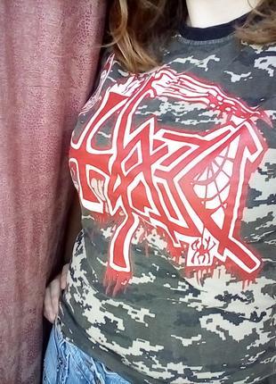 Рок футболка Death камуфляж
