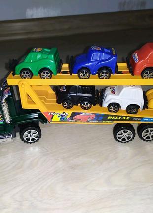 Автовоз инерционный 6 машинок