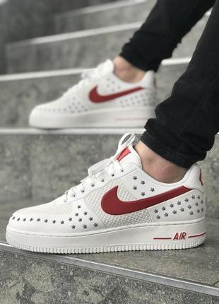 Шикарные мужские кроссовки nike air force белые