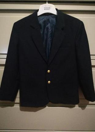 Классический школьный темно-синий пиджак
