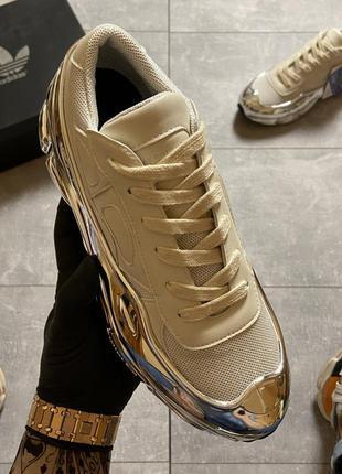 🔥 adidas raf simons rs ozweego cream white silver metallic