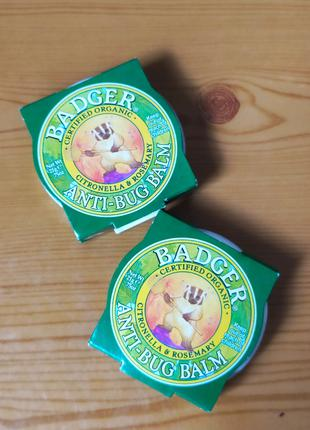 Защита от укусов комаров, мошки, репеллент, Badger Company, 21 г